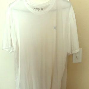 Hurley all white T shirt